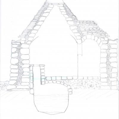 sezione trullo esistente e cisterna